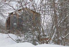 Moulin Wakefield Mill Inn pendant l'hiver photo stock