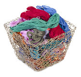 Mouline and basket Stock Photo