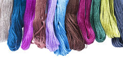 Mouline. Set of mouline threads on white as a background Royalty Free Stock Photography