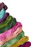 Mouline. Set of mouline threads on white as a background Royalty Free Stock Photos