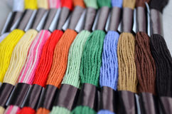 Mouline threads. Some mouline threads of different colours Royalty Free Stock Image