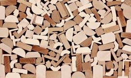 Moulings de madeira, pilha. Fotos de Stock Royalty Free