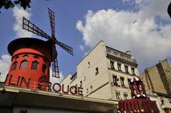 moulinparis rouge Royaltyfri Fotografi