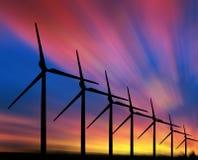 Moulins à vent Images libres de droits
