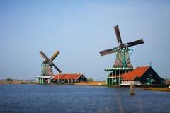 moulins à vent Photos libres de droits