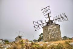 Moulins à vent au Portugal (HDR) Photographie stock libre de droits