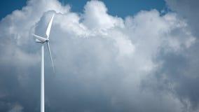 Moulins à vent avec le ciel bleu dans le rendu du fond 3d illustration de vecteur