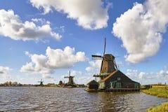 Moulins à vent chez Kinderdijk photographie stock libre de droits