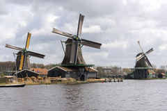 Moulins à vent chez Zaanse Schans Photographie stock libre de droits