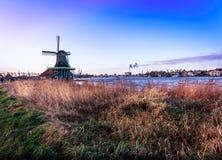 Moulins à vent d'Amsterdam Photo stock