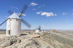 moulins à vent de Consuegra à Toledo, Espagne Ils ont servi à rectifier le GR Photo stock
