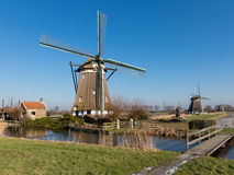 moulins à vent de la Hollande Photo stock