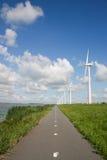 moulins à vent de la Hollande d'énergie Image libre de droits