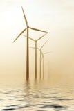 moulins à vent de matin photo libre de droits