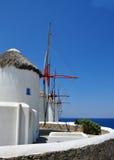 Moulins à vent de Mykonos Image libre de droits