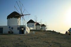 Moulins à vent de Mykonos Photo libre de droits