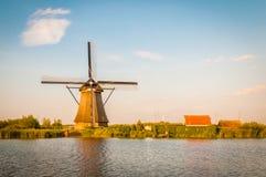 Moulins à vent de Néerlandais d'historiens Photo libre de droits