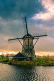 Moulins à vent de Néerlandais d'historiens Image libre de droits