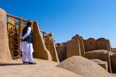 Moulins à vent de Nashtifan, Khaf, Iran Les moulins à vent opérationnels les plus anciens dans le monde image stock