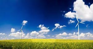 Moulins à vent de panorama image stock