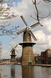 Moulins à vent en De Vrijheid et De Noord photo stock