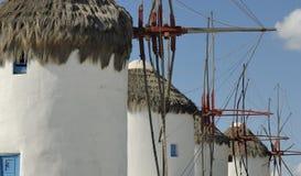 Moulins à vent en Grèce Photographie stock libre de droits