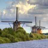 Moulins à vent en Hollande Images libres de droits