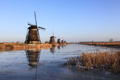 Moulins à vent historiques 4 Kinderdijk, Hollande Photo stock