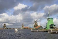 Moulins à vent hollandais Image stock
