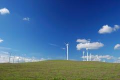 Moulins à vent modernes Images libres de droits