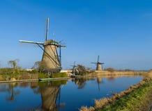 Moulins à vent néerlandais Image libre de droits