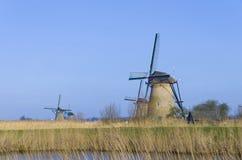 Moulins à vent néerlandais Images stock