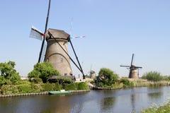 Moulins à vent néerlandais Photographie stock