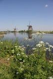 Moulins à vent néerlandais Image stock