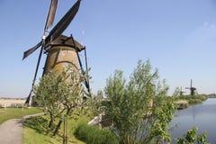 Moulins à vent néerlandais Photographie stock libre de droits