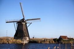 Moulins à vent néerlandais, Hollande, étendues rurales Moulins à vent, le symbole de la Hollande Image libre de droits