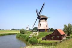 Moulins à vent - scène rurale Photographie stock libre de droits