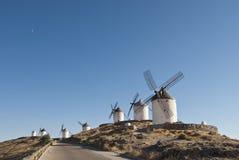 Moulins à vent traditionnels en Espagne Photographie stock libre de droits