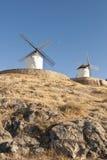 Moulins à vent traditionnels en Espagne Images libres de droits