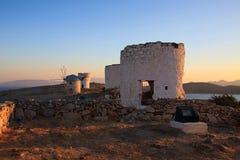 Moulins de vent, Bodrum Image stock