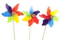 Moulins de vent colorés Images libres de droits