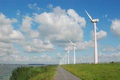 Moulins de vent d'énergie Hollande Photos libres de droits