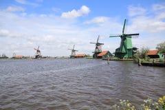 Moulins de vent d'Amsterdam Photographie stock
