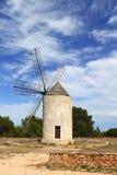 Moulins de vent de moulin à vent d'Îles Baléares Espagne Photo stock