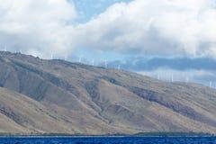 Moulins de vent ou turbines de vent sur Maui Photo libre de droits