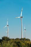 Moulins de vent pendant Photos libres de droits