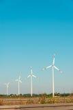 Moulins de vent pendant le lumineux Images libres de droits