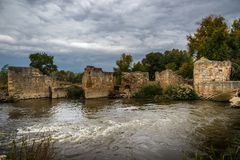 Moulins des Moyens Âges Photos stock