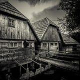 Moulins sur la rivière Gacka Photo libre de droits