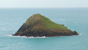 The Mouls off Pentire Point stock footage